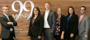 The staff at Voisard Asset Management. Finding a financial advisor near me is easy with an office in the heart of Grand Rapids.