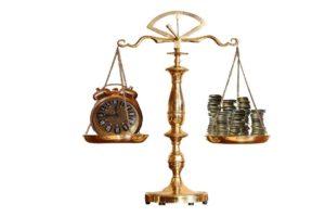 A Balancing scale, a symbol of Voisard's portfolio rebalancing blog
