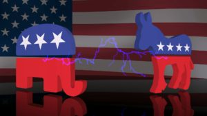 How the election affects the stock market, Republican and Democrat images