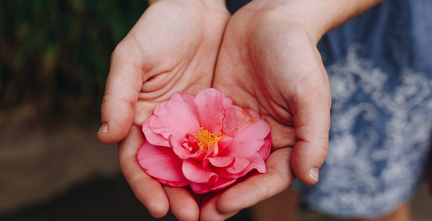 A Charitable Remainder Unitrust allows you to do good things, while still reaping a benefit. A rose in the cupped hands of a woman.